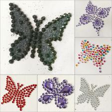 BUTTERFLY 2pcs 3pcs Self Adhesive Diamante Stick on Crystals Sticky Rhinestone