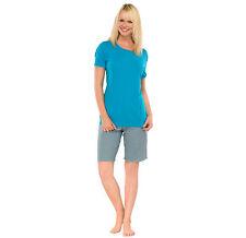 SCHIESSER Pyjama court dames BAMBOU 40-50 Tailles grandes 1/2 bras L-5XL NEUF