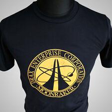 James Bond Drax Enterprise Corporation Moonraker T Shirt 007 Movie Themed Tee