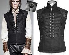 Veste gilet gothique dandy officier militaire broderies jeans Punkrave Homme