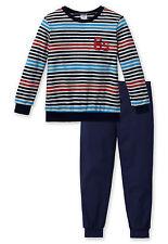 SCHIESSER Jungen Schlafanzug Pyjama lang SPORT Gr. 140 152 164 176 Nachtwäsche