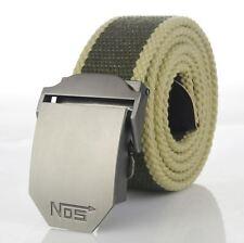 Cintura in tela di Qualità Da Uomo-Cachi a Righe-Tactical Cintura - 6 Taglie-BE0001