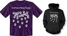 Kapuzenshirt Hoodie od. T-Shirt Katzenstampfzone Katze Kater Neu
