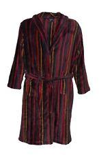Espionage Yarn Dyed Striped Microfleece Dressing Gown With Shawl Collar (094)