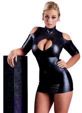 """Wetlook Minikleid S-XL Stehkragen Lack Glanz Partykleid Clubwear """"Amanday"""""""