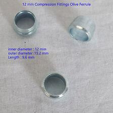 12mm acciaio idraulico verde oliva BOTTE GUAINA a compressione BOCCOLA IN OTTONE