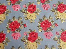 Cath Kidston, Floral Vintage Blue, 100% Cotton Duck Fabric per metre