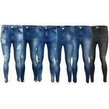 Mujer Rasgado Vaquero Mujer Pitillo corte slim Pantalones Elástico Verano