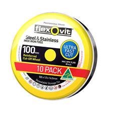 Flexovit MEGA INOX STAINLESS CUT OFF DISCS 10Pieces -100x1x16mm Or 115x1x22.2mm