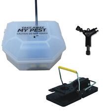 MOUSE Mice Snap Trap Killer & Box - Child & Pet Safe - POISON FREE KILL SOLUTION