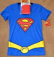 DC COMICS SUPERMAN Costume T-Shirt with Cape  Juniors Tee