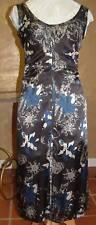 ESCADA BLACK LABLE BROWN SATIN SILK DRESS 36 $580 LUX!
