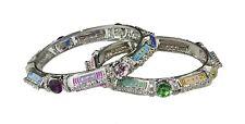 COPPIA di pietra Multicolore & inciso design con Pietra Diamante braccialetti Indiano