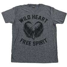 Wild Heart Free Spirit T Shirt Gypsy Soul Dreamer Wanderer Bohemian Hippie Tee