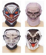 Scary Skin Tight Tattoo Style Net Horror Halloween Face Masks NEW