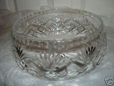 Vintage Lead Crystal Fruit / Dessert / Salad Bowl Excel