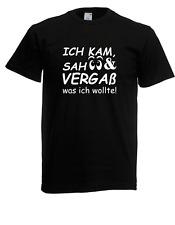 Herren T-Shirt Ich kam sah und vergaß Sprüche Lustig bis 5XL