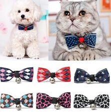 Mascota Gato Perro Bowtie Cuello Con Bell Ajustable Collar Cuello Pajarita Cachorro