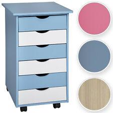 6 drawers mobile office under desk pedestal wooden cabinet cupboard