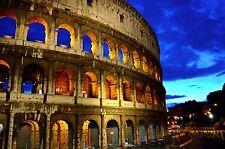 STUNNING ROME COLOSSEUM AMPHITHEATRE CANVAS PICTURE #585 ROME ITALY CITYSCAPE