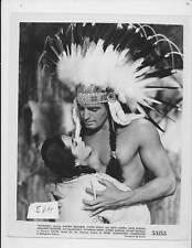 Vince Edwards barechested brave, Yvette Dugay VINTAGE Photo Hiawatha