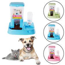 2in1 Automatic Pet Dog Cat Rabbit Food Water Dispenser Dish Bowl Feeder Drinker