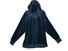Plus size velour zip up hoody tracksuit top