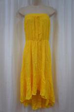 Swim Cover Coco Bianco Sz M Lemon Yellow Strapless Beach Wear Cover Up