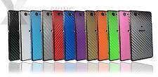 FIBRA di carbonio pelle per Sony Xperia Z1 e Z1 Compact Decalcomania Wrap COVER
