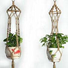 Plant Hanger Hook Macrame Handmade Hemp Rope Macrame Flowerpot Holder Durable