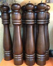 "HUGE TURKISH BLACK PEPPER GRINDER MILL, WOOD, AUTHENTIC GIFT, 40 cm / 15.5 """