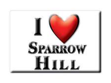 SOUVENIR UK - ENGLAND MAGNET UNITED KINGDOM I LOVE SPARROW HILL (SOMERSET)