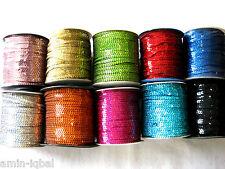 5m Paillettenband,Paillettenborte,4mm,Farbe wählbar,R14 (0,40€ pro Meter)