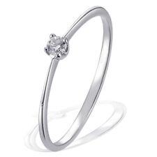 Goldmaid Ring Solitär Verlobungsring 375 Weißgold 1 Brillant Echtschmuck 0,07 ct