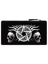 Pencil Case Skull Pentagram Black 21x11cm