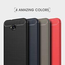 Housse etui coque gel carbone pour Asus Zenfone 4 Selfie ZD553KL + verre trempe