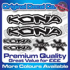 Premium Quality Kona Bike Decals Stickers mountain bike frame bmx mtb +FREE GIFT
