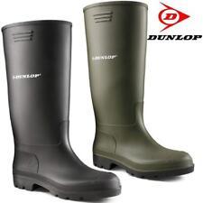 Mens Damas Dunlop Pantorrilla Alta Wellingtons Wellies Tobillo Botas Zapatos Mucker De Lluvia