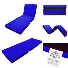 4 Inch Memory Foam Firm Mattress Trifolding Bed Pad Floor Mat Blue/Black 4 Size