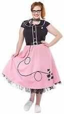 50s Sweetheart Dress Sock Hop Dance Costume Adult Women Plus Size