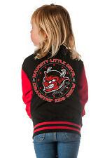Dragstrip Kids Crew Red/Black Varsity Baseball Jacket Naughty Little Devil