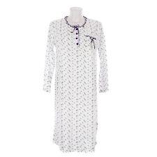 Camicia da notte donna primavera autunno elasticizzata in cotone   DPCAM005