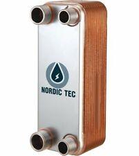 Edelstahl Platten Wärmetauscher Plattenwärmetauscher NORDIC TEC 25-65kW Ba-12
