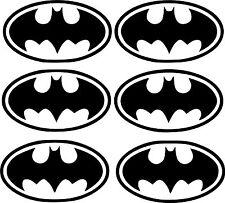 6 UNIDADES - PEGATINAS - STICKERS - Batman - 8 CM - VINILO - LAMINA - PACK- LOTE