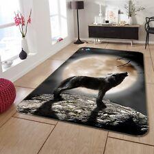 3D Wolf Moonlight 02 Non Slip Rug Mat Room Mat Quality Elegant Carpet US Cobb