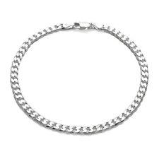 925 Sterling Silver Cuban Link Chain Bracelet 4mm (100 Gauge)
