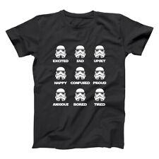 Storm Trooper Emotions  Stormtroopers Costume Funny Black Basic Men's T-Shirt
