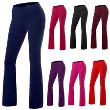 Plus Size Womens High Waisted Trousers Wide Leg Flared Slim Yoga Pants Leggings