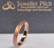 1 Trauring Ehering Hochzeitsring Gold 333 - Breite 3mm - Eismatt - Rotgold !
