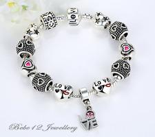 DIY Beads Charm Bracelet with LOVE Pendant/RGB077